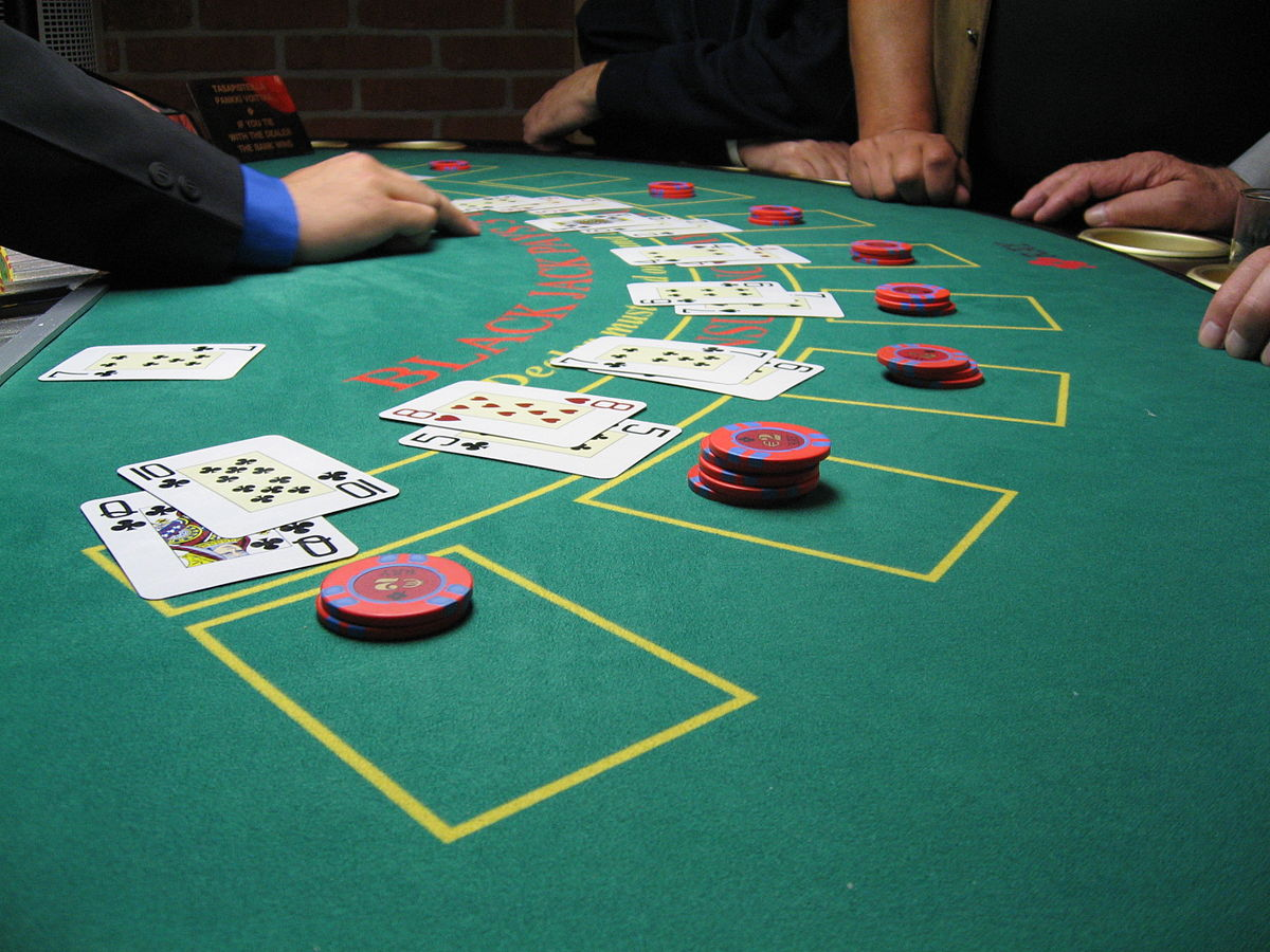 Blackjack is easily one of the most common games at a casino ... photo by CC user Public Domain on wikimedia